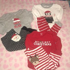 Carter's Christmas Matching Sets & Pajama Lot 12M